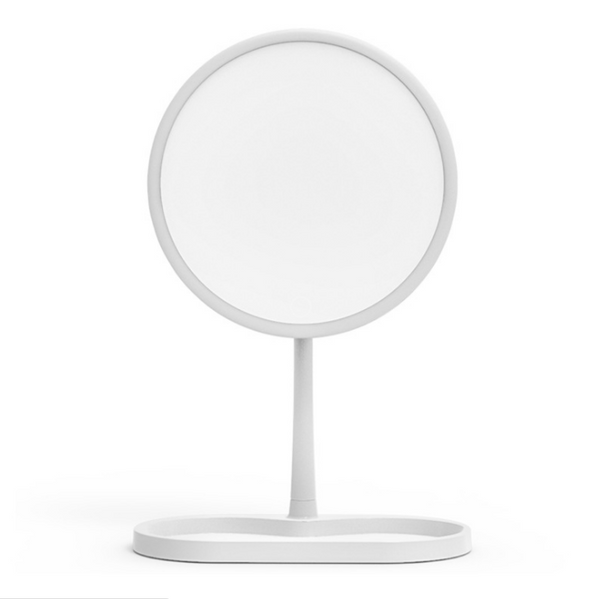 New 7-inch led makeup mirror with lamp desktop touch dimming battery models fill light mirror with storage.