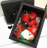 Creative bouquet gift box rose soap flower