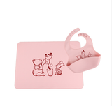 Baby eating bib placemat set waterproof silicone