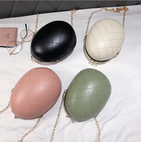 Summer Korean version of the rhombus eggshell chain shoulder cross-body bag