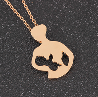 Summer mom baby glossy cutout pendant