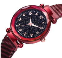 Starry sky Rome women's watch iron magnet magnet Milan women's watch