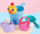 Summer children bathing and playing with toys 4 sets of toys