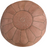 Moroccan Leather Pouf in Tan Brown
