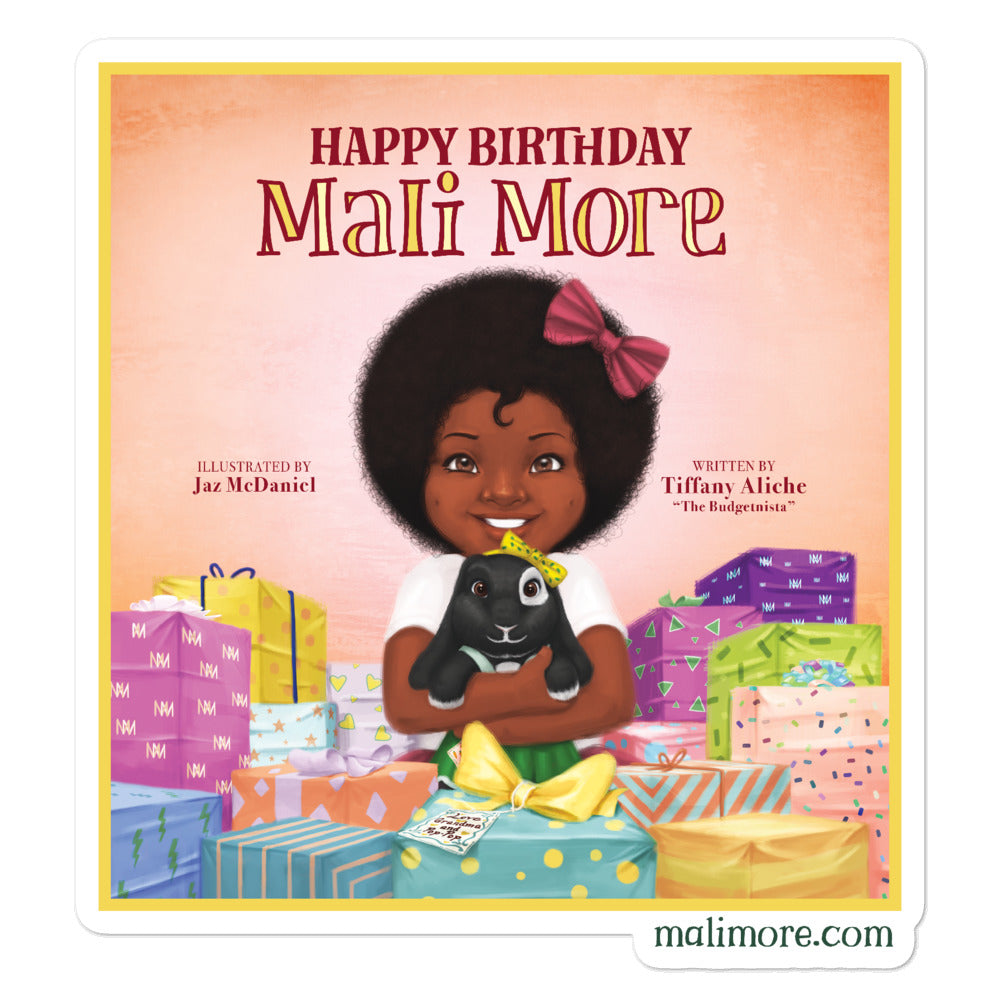Happy Birthday Mali More Sticker (1 Sticker)