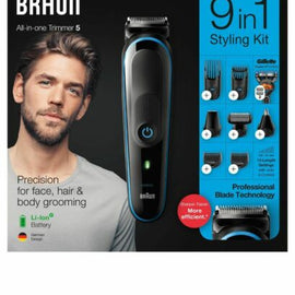 Braun MGK5280 9 in 1 Series 5 Beard Trimmer & Hair Clipper Multi Grooming Kit