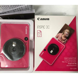 Canon Inspic C Digital Instant Camera Printer BLUE & PINK COLOR DSC All In One