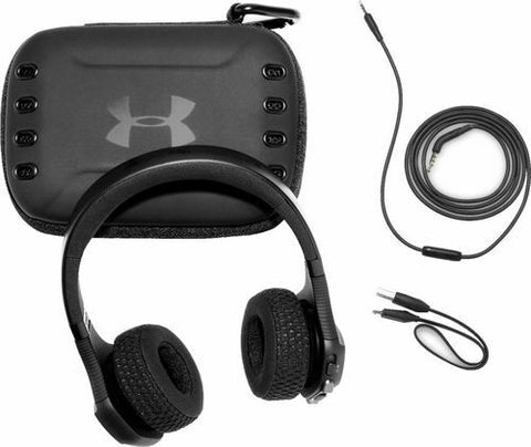 JBL Under Armour Sport Wireless Train On-Ear Bluetooth Headphone Black IPX4 NEW