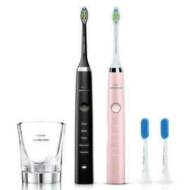 Philips Sonicare DiamondClean Electric Toothbrush Bundle Pack BLACK/PINK EDITION