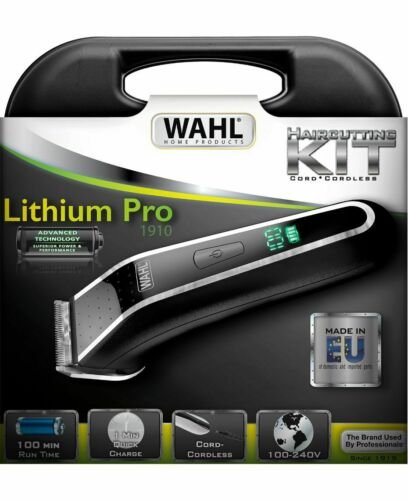 Wahl Lithium Pro Lcd Cord or Cordless Home Product Hair Trimmer
