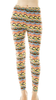 Colorful Wave printed leggings