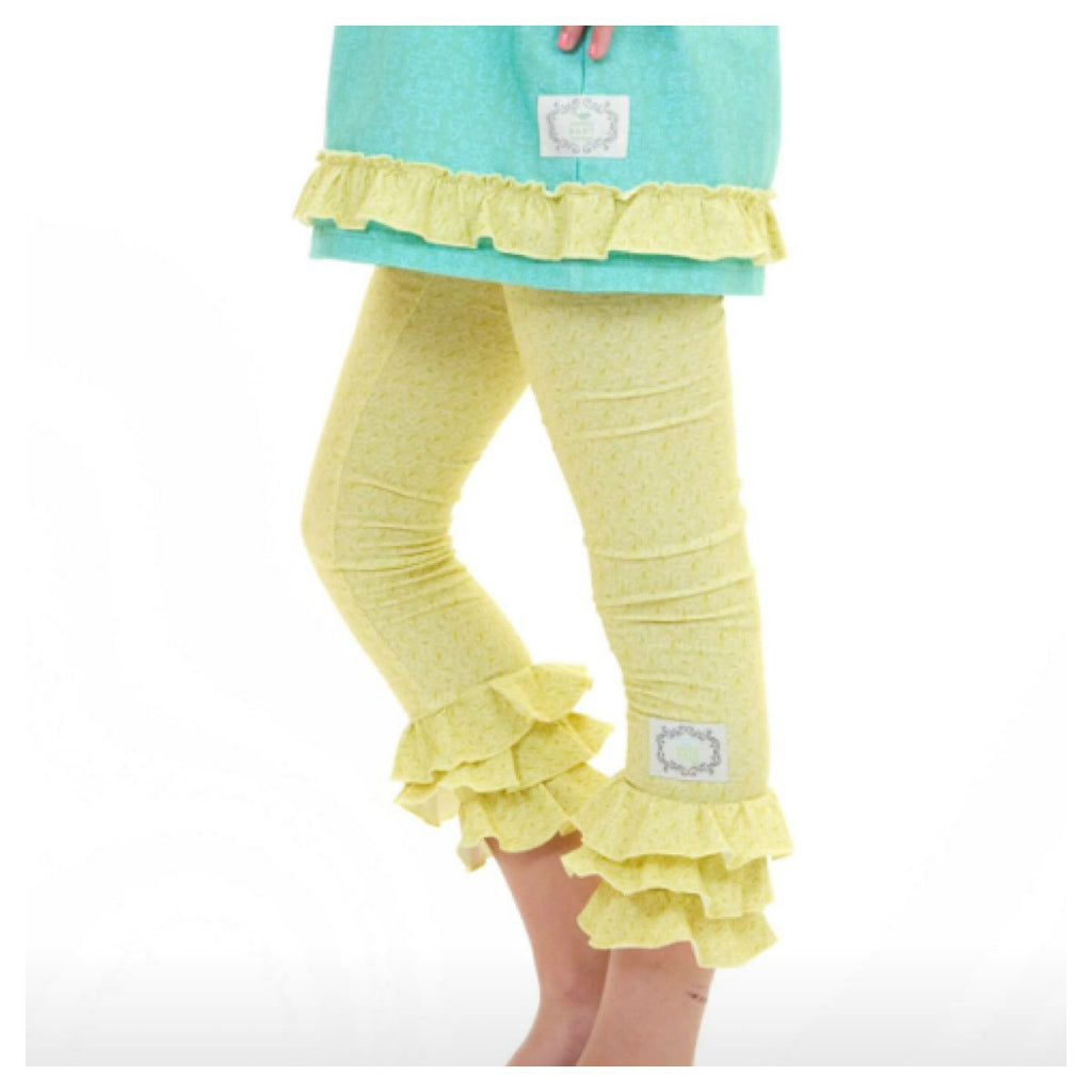 Triple Ruffle Leggings Green