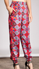 High Waisted Harem Pant Gather Ankle Detail Cherry