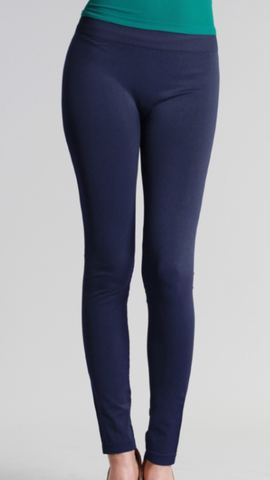 Seamless Long Leggings Navy