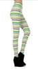Mixed striped Leggings Yellow/Mint/Lavendar