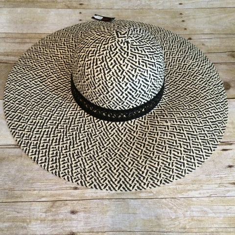 Black/Natural Floppy Hat