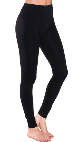Seamless Long Leggings Black