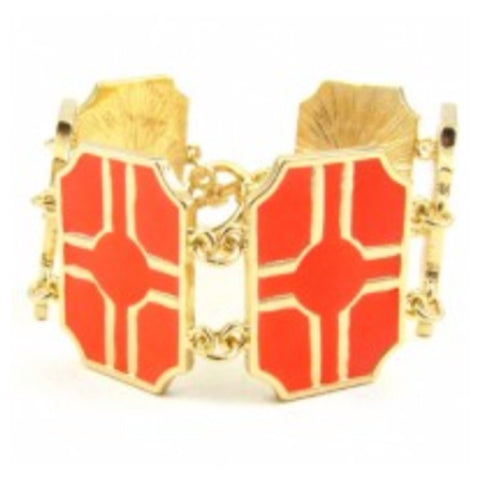 Square Toggle Bracelet- Orange