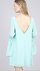 V-Neck Bell Sleeve Dress Mint