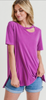 Magenta Cut Out Modal Top