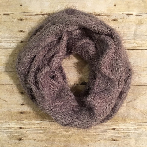 Grey Cable Infinity Scarf