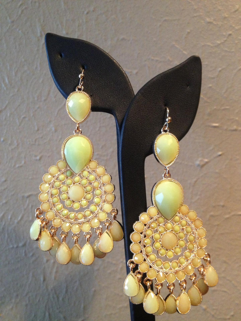 Avocado Green Drop Earrings