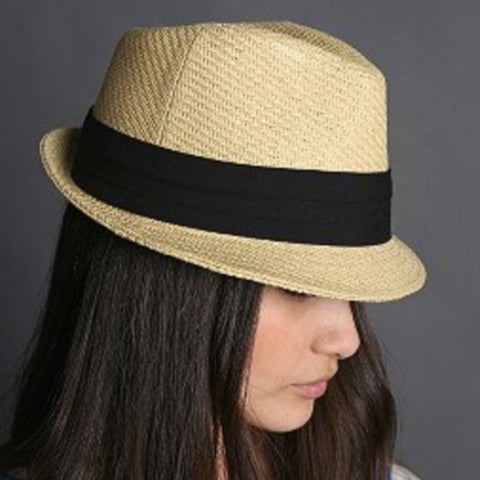 Straw Natural Fedora