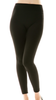 Solid Cozy Fleece Leggings Black