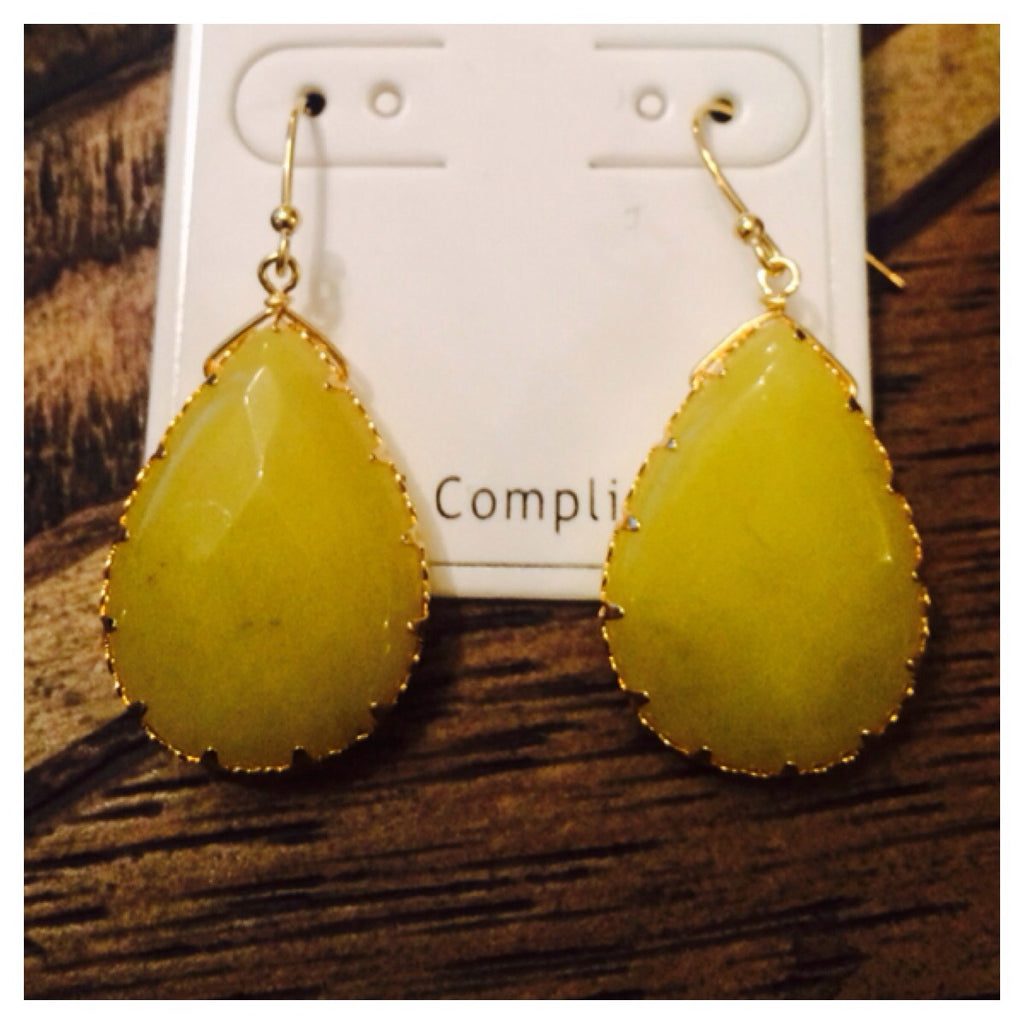 Yellow/Gold Drop Earrings
