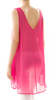 Solid Chiffon Sleeveless Top Fuchsia