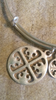 Brushed Silver Cross Charm Bracelet