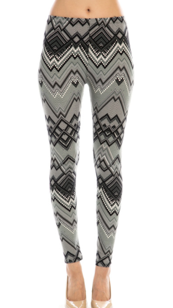 Chevron Pattern Print Leggings
