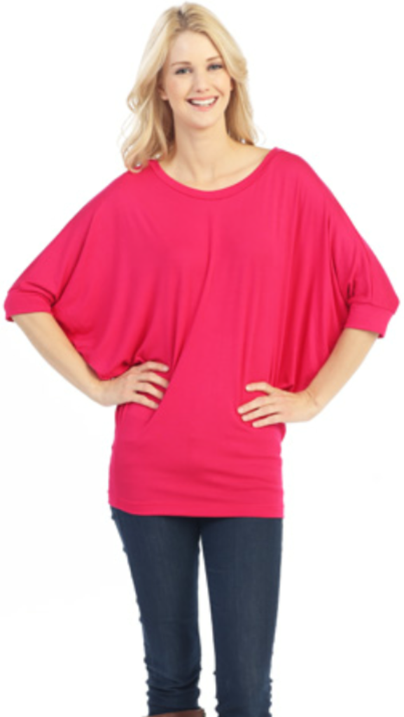 Hot Pink Short Sleeve Comfy Top
