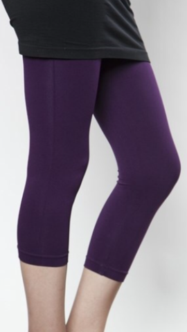 Purple Cropped Leggings