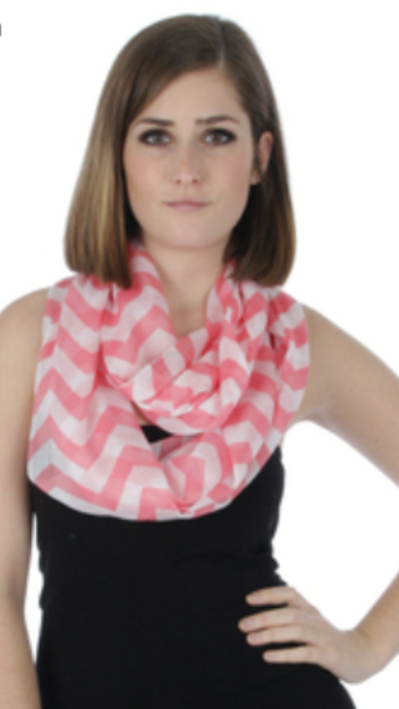 Chevron Infinity Scarf Pink