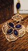 Royal Blue Chandelier Earrings
