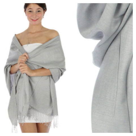 Light Grey Pashmina