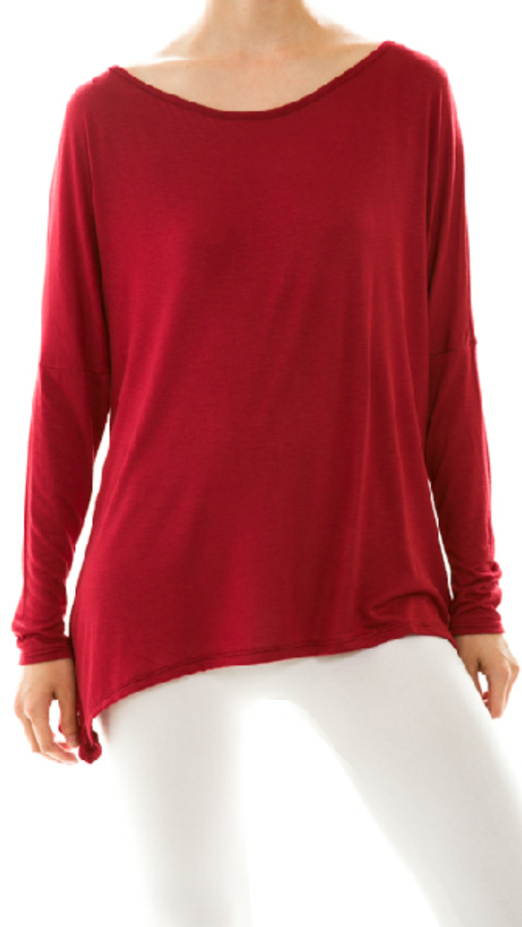 Cherry Red Dolman Top