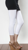 White Cropped Leggings