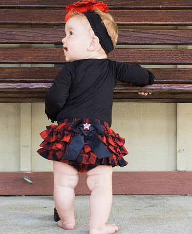 Buffalo Plaid Rufflebutts Red