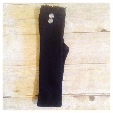 Black Button Boot Socks