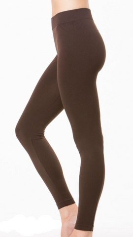 Seamless Long Leggings Brown