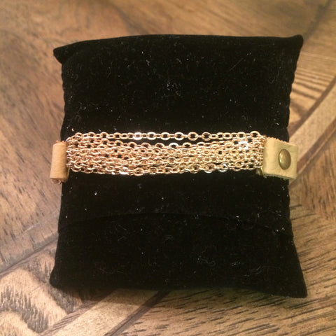 Tan Chain Snap Bracelet