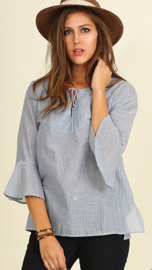 Mini Bell Blue Striped Top