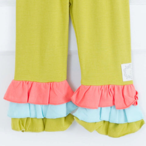 Triple Ruffle Leggings Capri