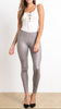 Platinum Faux Leggings