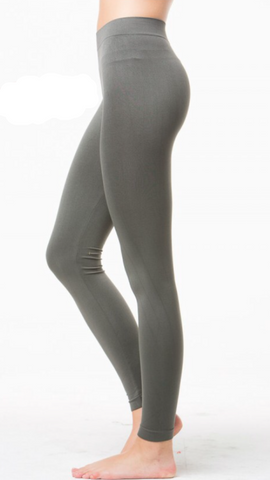 Seamless Long Leggings Grey