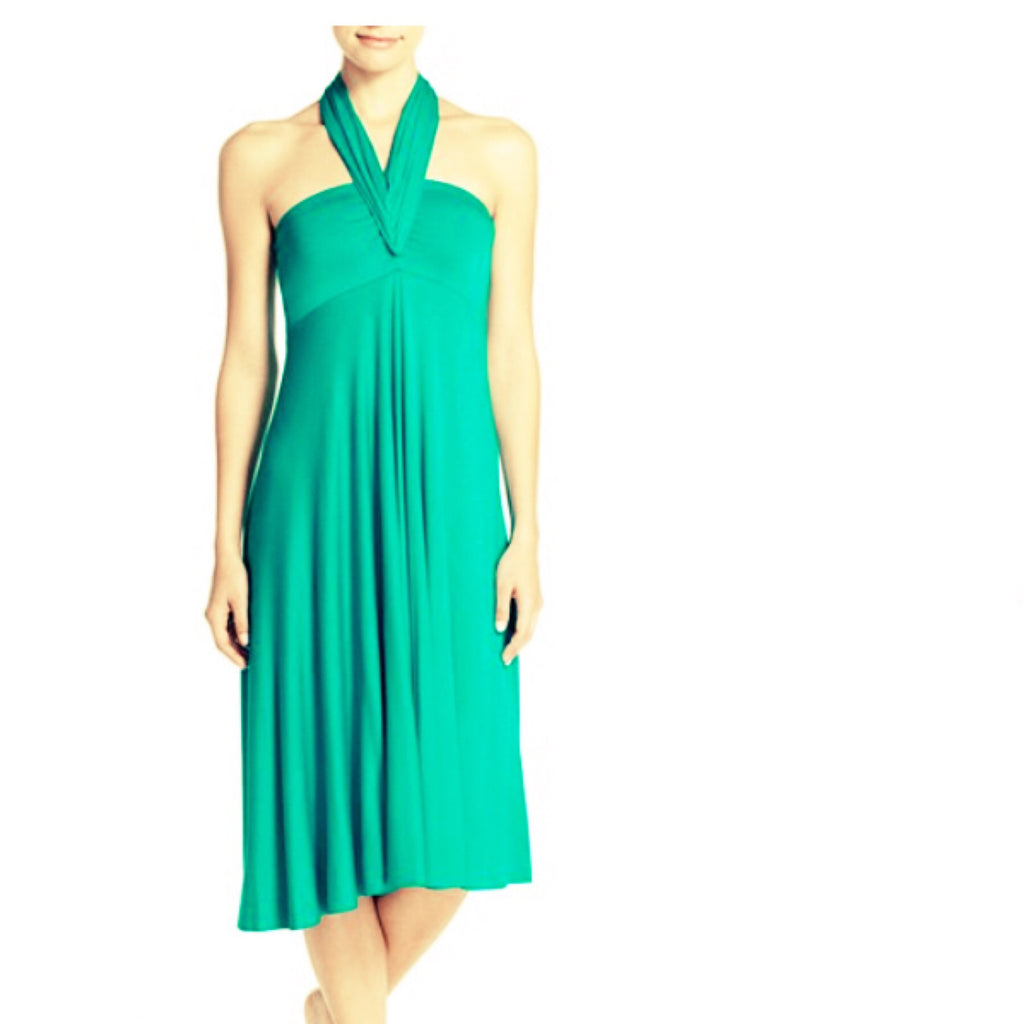 Emerald Green Convertible Dress