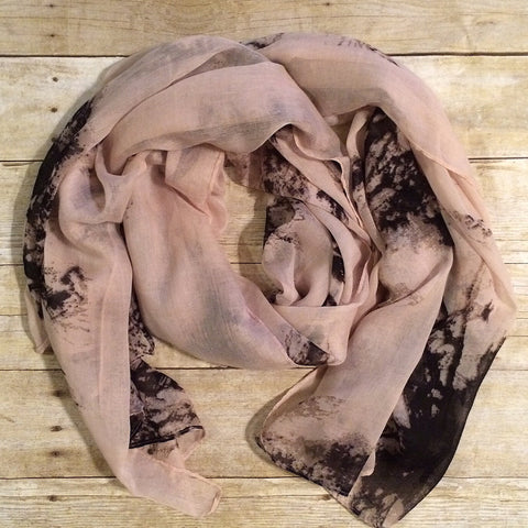 Blush & Black Printed Scarf