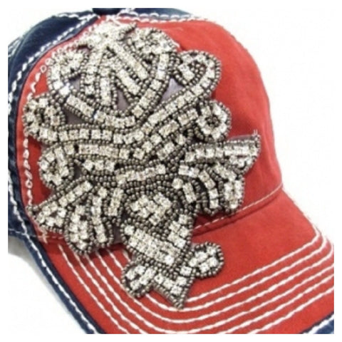 Chandelier Deco Two Tone Red/Blue Cap